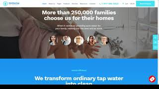 WellSpring Aqua Filters and Drinking Water Delivery WordPress Theme remodeling construction Iwasa