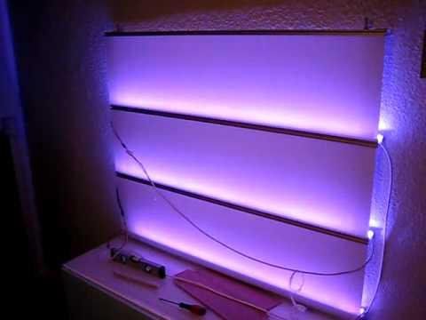 test der neuen dream color led strips im wandpaneel youtube. Black Bedroom Furniture Sets. Home Design Ideas