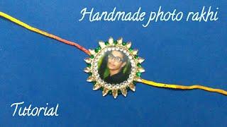 MAKING RAKHI FOR MR.MAGICIAN||HANDMADE PHOTO RAKHI||HOW TO MAKE RAKHI AT HOME||Handmade rakhi ideas