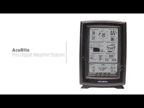 AcuRite Pro Digital Weather Station with Forecast/Temperature/Humidity/Wind/Rain 01010