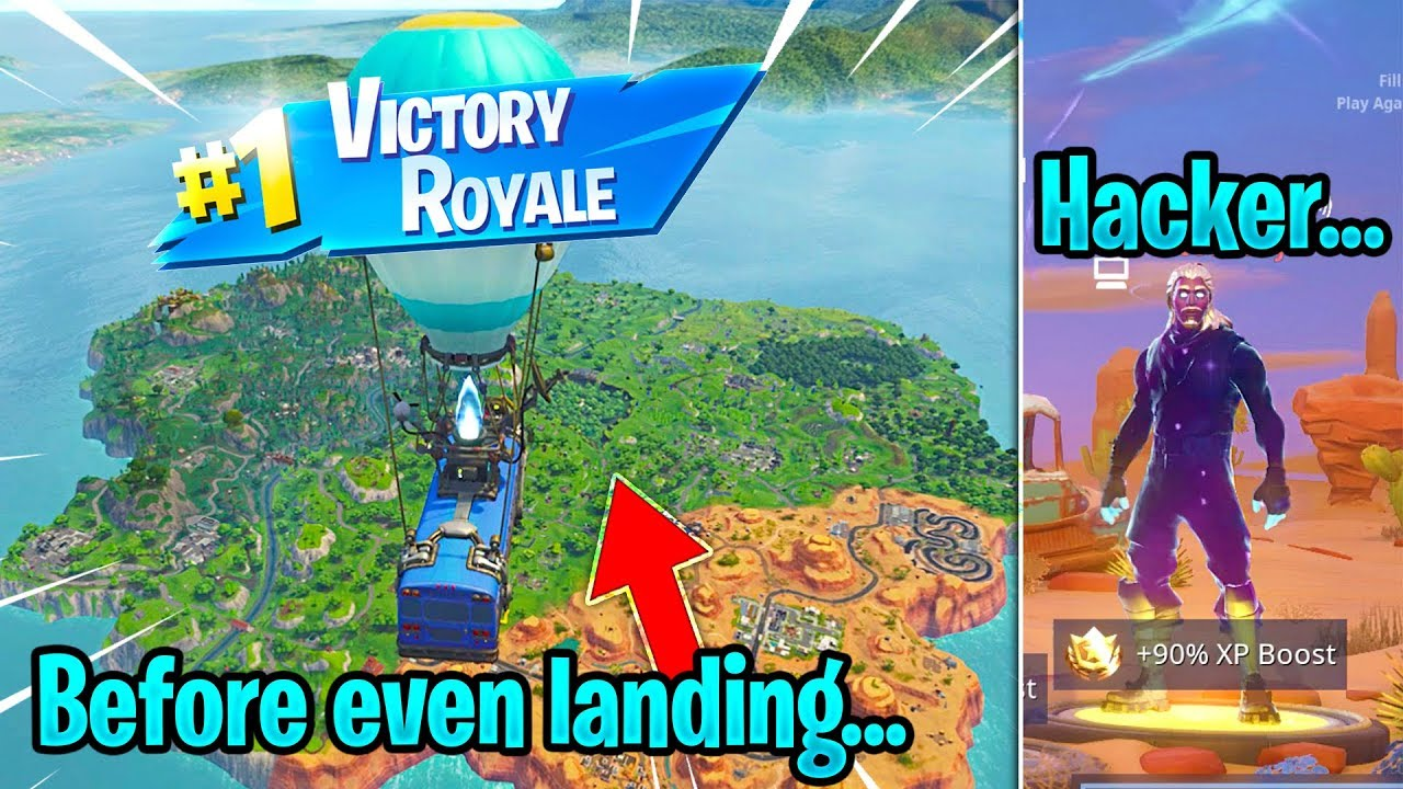REAL Fortnite Hacker DRIVES the BATTLE BUS and gets me WINS every 1  second    (UNRELEASED SKINS)