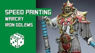 How To Speed Paint Iron Golems: Warhammer Age Of Sigmar Warcry Tutorial