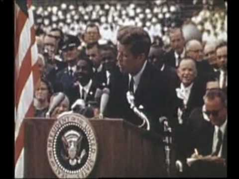 "John F. Kennedy's inspirational speech: ""We choose to go to the Moon."""