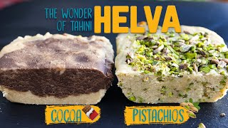 How to make HEĻVA at HOME 😍 | 2 Halva Recipes 1.Pistachios 2.Cocoa + Refika's Special Oven Helva 🤤