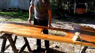 Handmade Custom Pine Wood Countertop DIY- Under $100 in material to create a beautiful countertop.