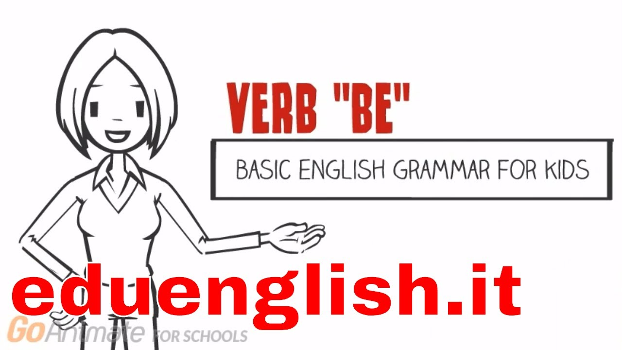 Verb to be | basic english grammar for kids