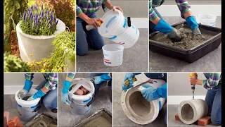 супер идеи Как сделать цветочный горшок своими руками