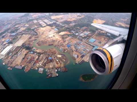 Tigerair (Tiger Airways) A319 BKK-SIN Descend, Holding and Landing at Changi International Airport