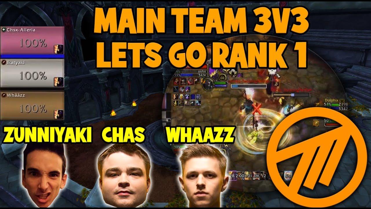 Main team pushing rank 1 on EU | 3v3 with Zunniyaki and Chas