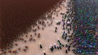 10.000 JEDI vs 40.000 SPARTANS - Ultimate Epic Battle Simulator