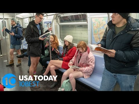People around the world are riding the subway with no pants