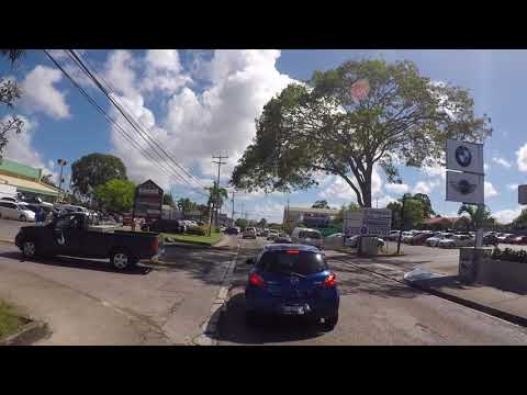 Barbados Road to airport, Gopro / La Barbade Route Bridgetown centre ville vers Aéroport, Gopro