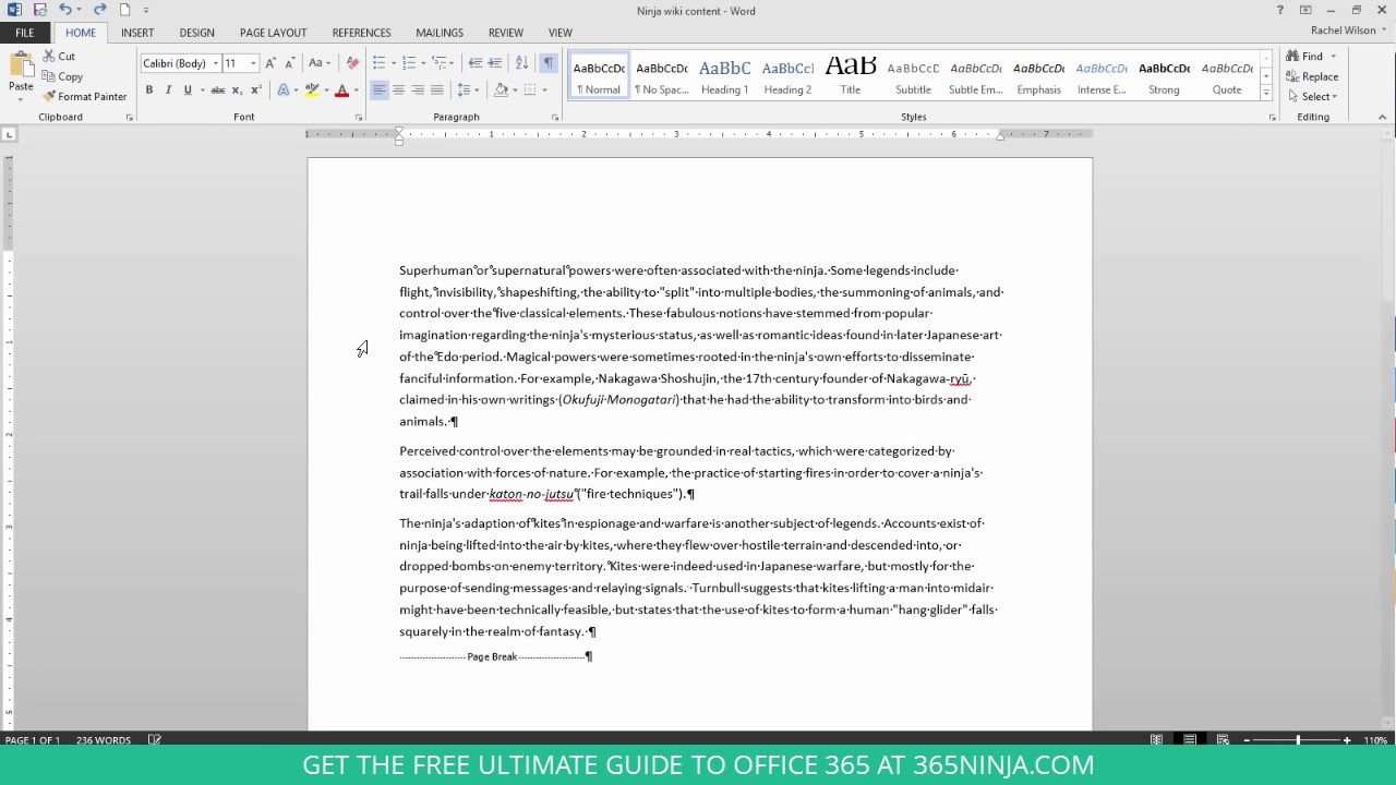 How to delete an unwanted blank page in word 2013 or 2016 youtube how to delete an unwanted blank page in word 2013 or 2016 ccuart Gallery