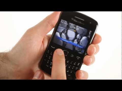BlackBerry Curve 9360 user interface demo
