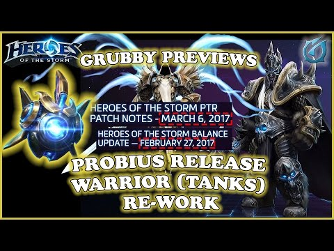 Grubby | Heroes of the Storm | PTR Patch - 6-March & 27 Feb Balance - Probius and Tank Re-works