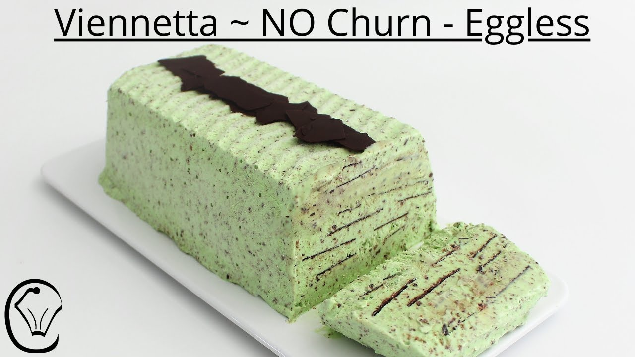 Mint Chocolate Chip Viennetta Ice Cream NO Churn No Machine Eggless EASY DELICIOUS Cookies and Cream