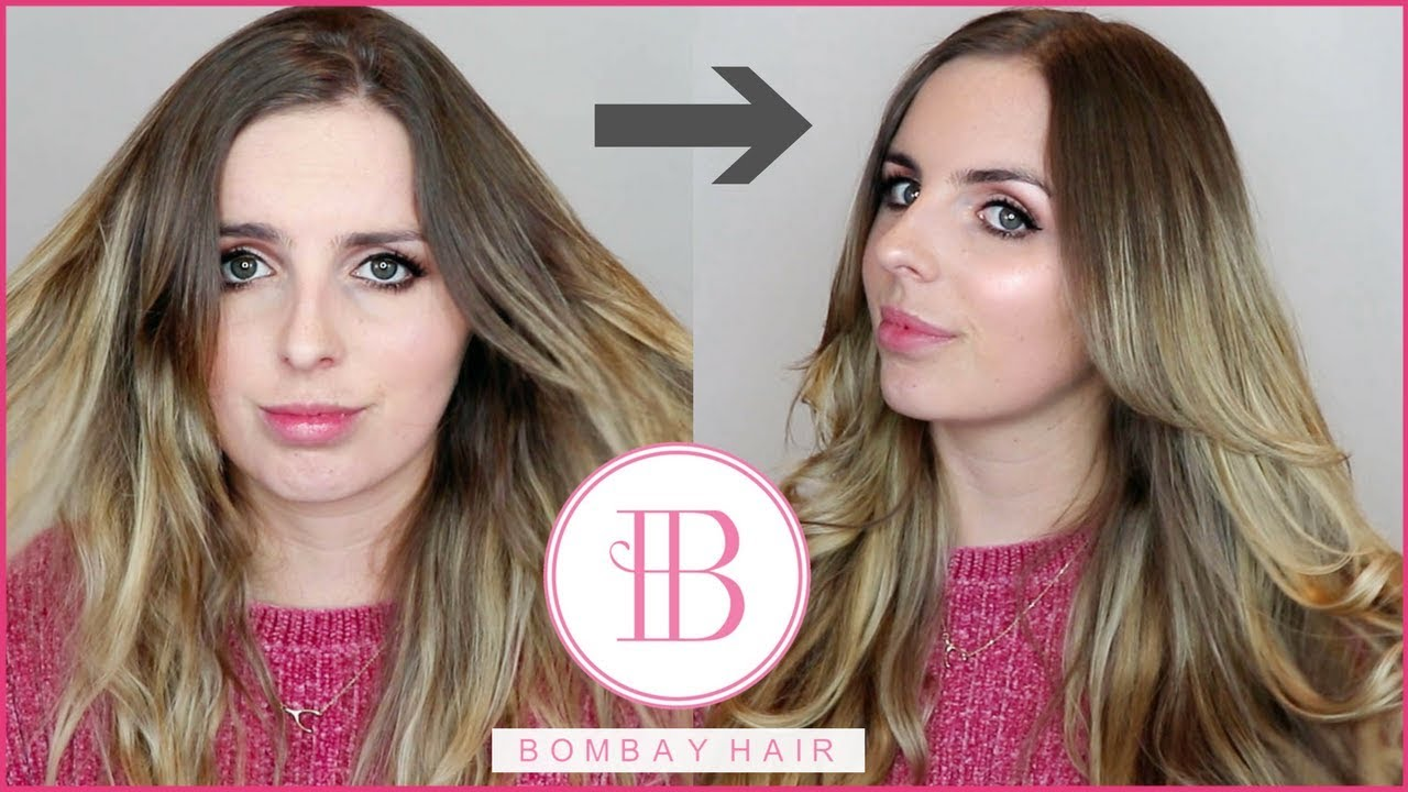 How I Clip In And Style My Bombay Hair Extensions Youtube