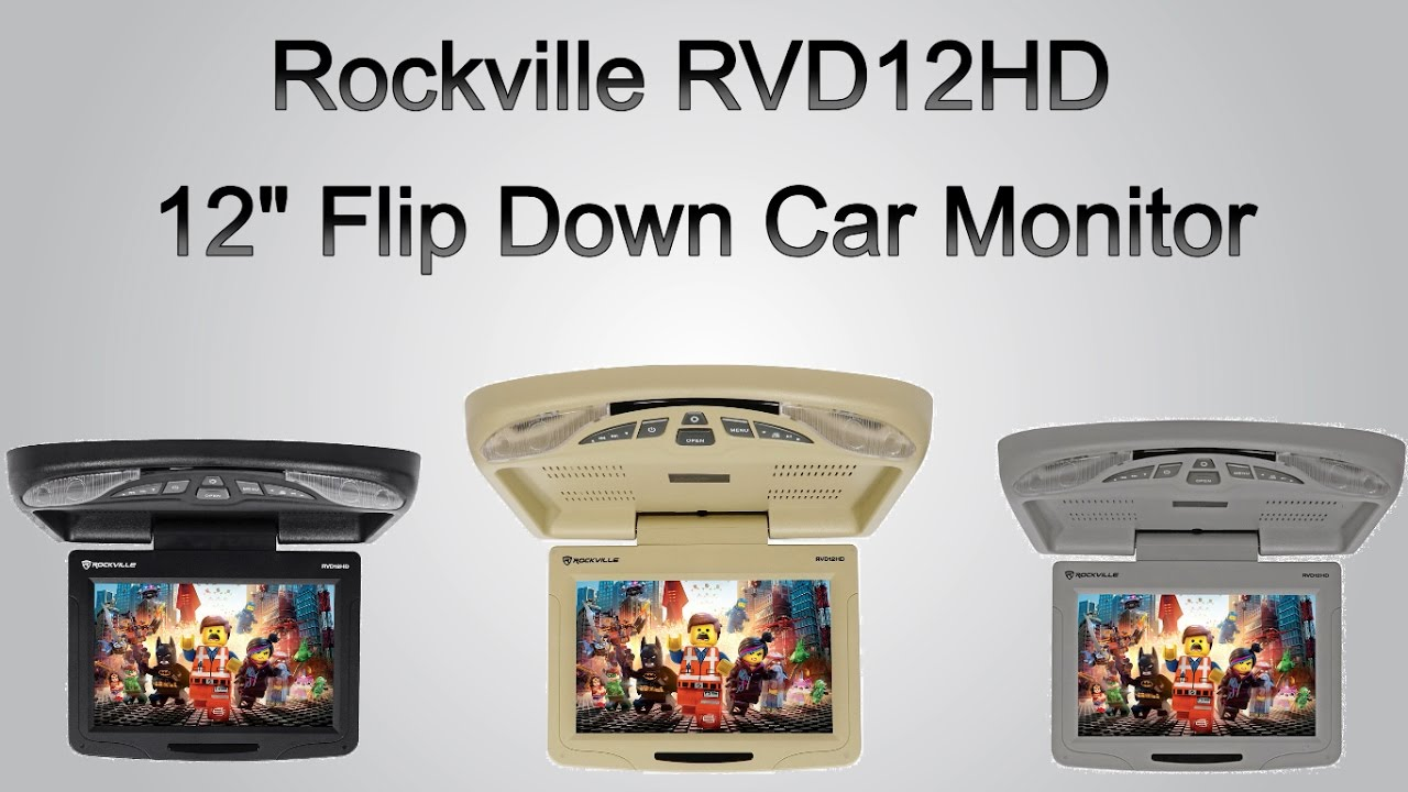 rockville rvd12hd 12 flip down car monitor dvd usb sd player rh youtube com Eonon Flip Down Monitor Best Flip Down Monitor