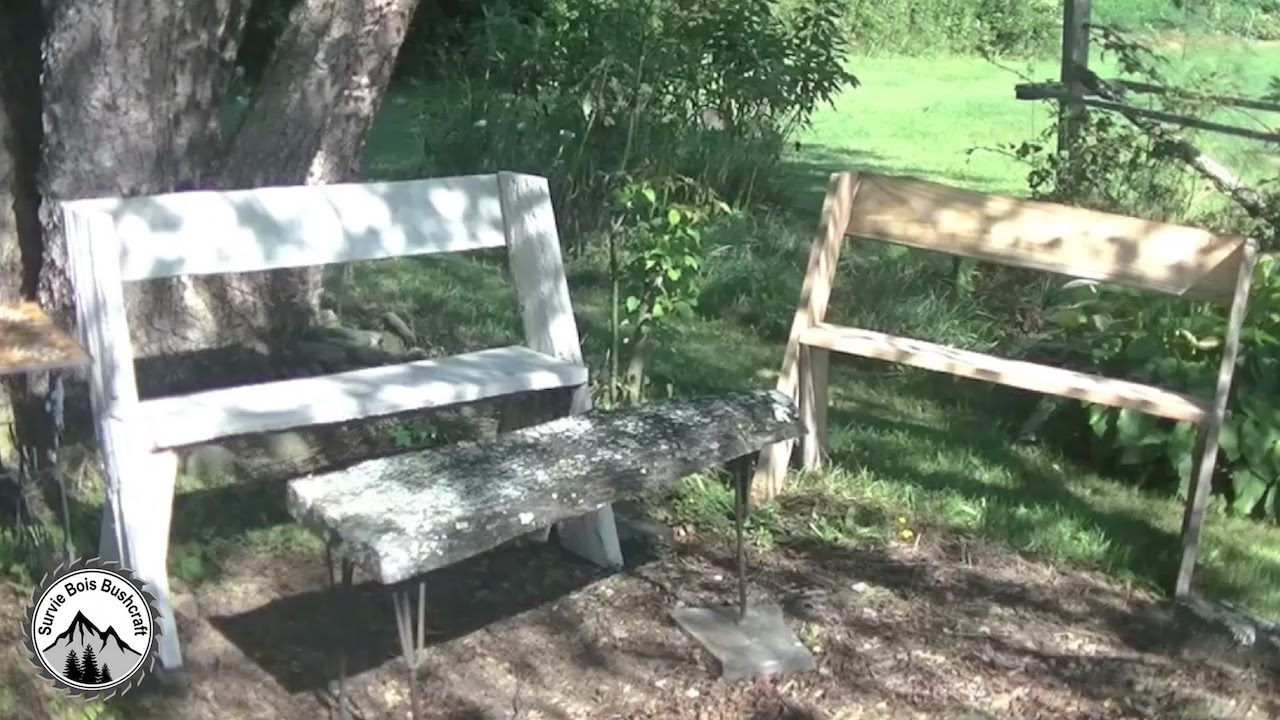 comment fabriquer un banc l opold projet en bois pour le jardin youtube. Black Bedroom Furniture Sets. Home Design Ideas
