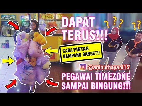 Cara Pintar Menang Main Boneka Capit/Claw Machine Timezone!! Dapat Terus!! (Part 1)