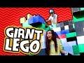 HUMAN SIZE GIANT LEGO TOWER! (Worlds Largest Lego Blocks)