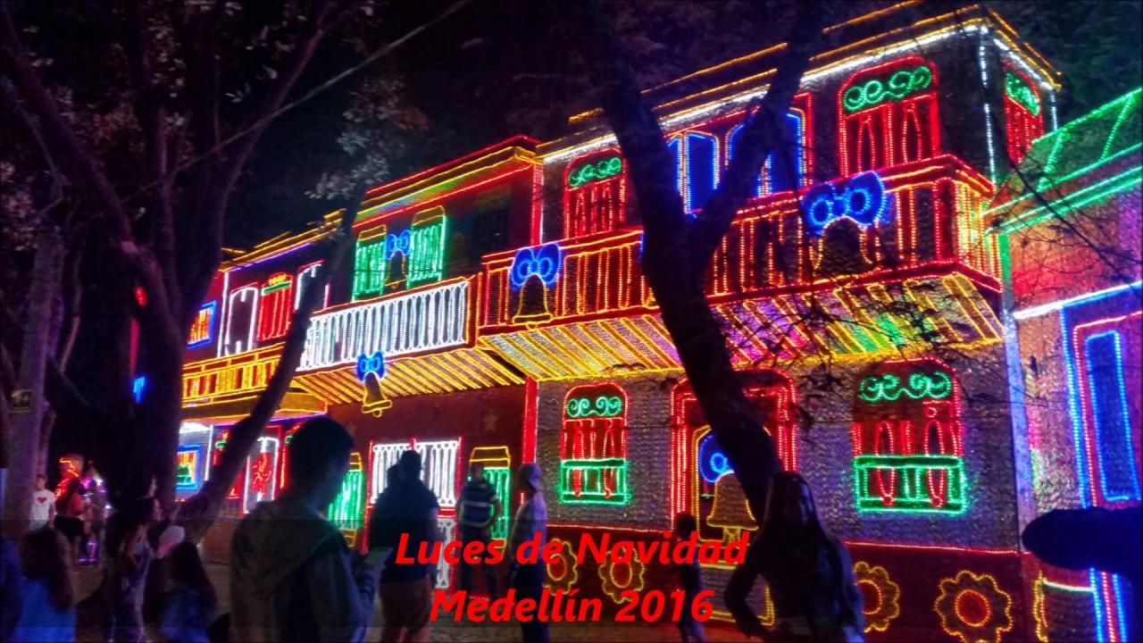 Luces de navidad medellin 2016 youtube - Luces de navidad ...