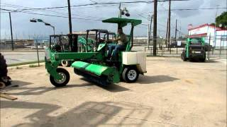 Sold! Lay-Mor 8HC Tow Behind Self Propelled Street Sweeper Broom bidadoo.com