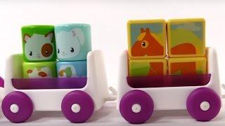 Развивающие мультики для маленьких: МАЛЫШИ! Паровозик и Животные для детей. Игры для маленьких.
