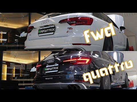 Dyno Testing Two Audi A4 Quattro & FWD (B9/8W) w/ ARMYTRIX Variable Exhaust - RAW SOUNDS!