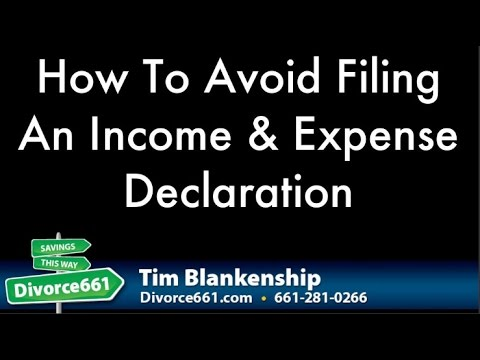 Divorce income and expense declaration