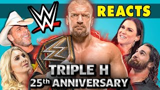 WWE Superstars React to Triple H (25th Anniversary)