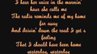 Take Me Home, Country Roads - John Denver (Lyrics)