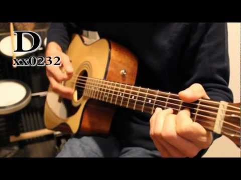Times like These - Foo Fighters - Acoustic guitar tutorial / cover with chords and lyrics