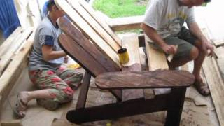 Expat Family In Cuenca Builds Patio Furniture: Adirondack Chair