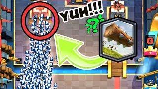 YUH! 1000000 İSKELET TOMRUKLA ÖLMEDİ !!! - Clash Royale