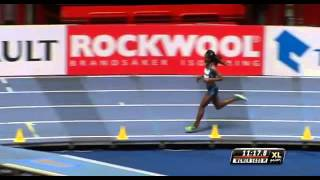 Genzebe Dibaba Smashes 5000m Indoor WORLD RECORD XL Galan 2015