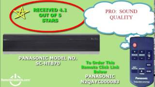 Review Panasonic Soundbar with Built-In Subwoofer 2.1-Channel  - SCHTB70