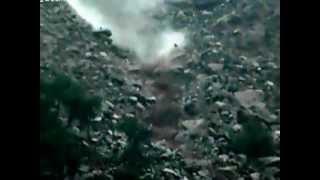 Гигантский оползень около Лима Перу