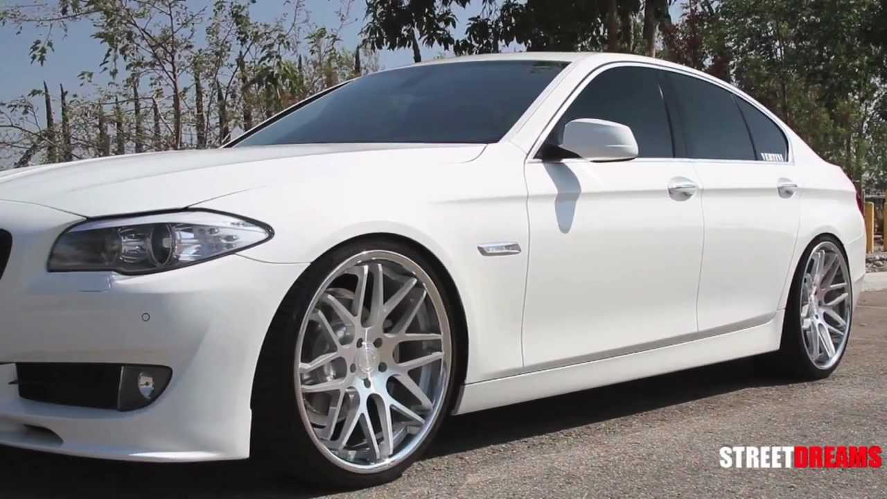 "Bmw Rims 22 Inch >> White BMW 5 Series with 22"" Vertini Magic Wheels 