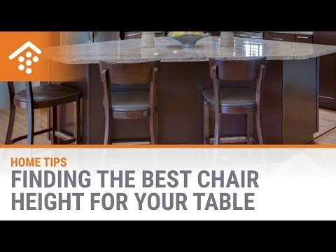 Finding the Best Chair Height for Your Table