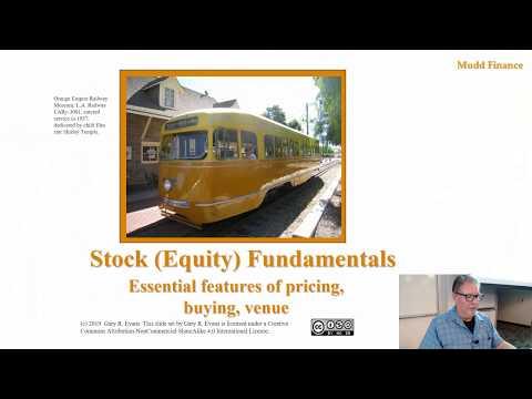 Econ 104 Stock Fundamentals Part 1 Sept 11, 2019