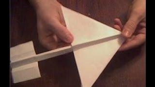 Оригами Как сделать самолетик из бумаги  Origami How to make airplane