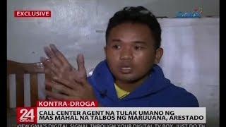 Call center agent na tulak umano ng mas mahal na talbos ng marijuana, arestado