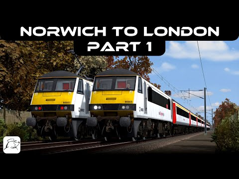 Norwich To London! Part 1   BR Class 90   Great Eastern Main Line