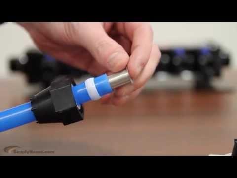 water manifold hook up