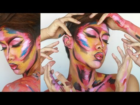 Avant-Garde Pop Art Face Painting Tutorial