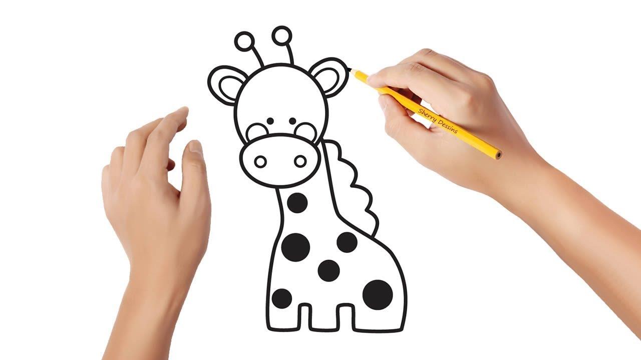 Comment Dessiner Une Girafe Youtube