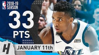 Donovan Mitchell NASTY Highlights Jazz vs Lakers 2019.01.11 - 33 Points, 9 Ast