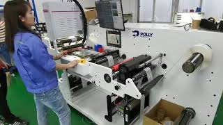 Affordable Label inspection system, label rewinder, lable slitter