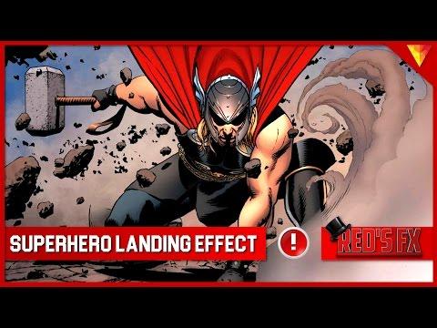 Superhero Landing Effect Hitfilm Express Tutorial | Red's Fx